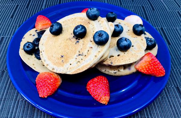 Pancakes de arándanos con harina de Quinoa