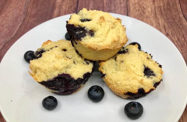 Muffins de Arándanos sin harina