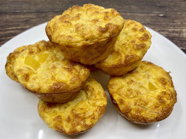 Muffins Hawaianos de Arroz integral