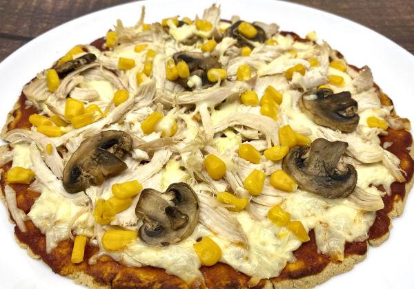 Pizza con masa de avena